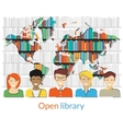 Open library vector image