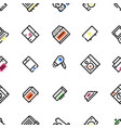 pattern of household appliances icons vector image vector image