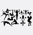 people sport silhouette vector image
