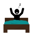 person sleeping in bed icon vector image vector image