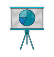 pie graph chart on board icon image vector image vector image