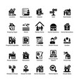 real estate glyph icons 8 vector image vector image