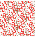 red berry pattern autumn seamless background for vector image vector image