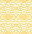 Seamless yellow pattern vector image vector image