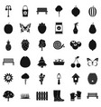 seedling icons set simple style vector image vector image