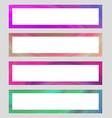 Set of colorful banner frames vector image vector image