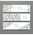 Set oj abstract geometric banners vector image