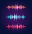 set three audio equalizer wave symbols vector image vector image