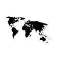 silhouette map world location landmark vector image vector image