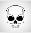 skull is a vampire with fangs vector image vector image