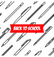 stationery collection writing tools pens and vector image