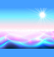 sun and water paradise background magic ripple vector image vector image