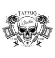 tattoo studio emblem template crossed tattoo vector image vector image