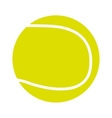 tennis ball isolated icon design vector image vector image