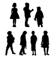 The silhouettes of boys and girls of preschool age vector image vector image
