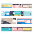 tickets or boarding passes isolated objects vector image