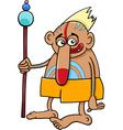 tribal shaman fantasy character vector image vector image