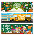welcome back to school educational supplies vector image vector image
