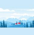 winter landscape flat vector image vector image