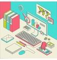 workspace concept vector image