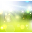 Yellow summer sun light burst vector image
