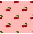 Seamless Pattern with Juicy Ripe Cherry Fruit vector image