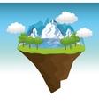 beautiful landscape background icon vector image