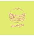 Burger Handdrawn vector image