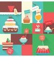 sweet dessert ccard vector image