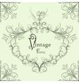 vintage calligraphic frame vector image