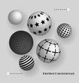 abstract 3d balls floating in the air vector image vector image