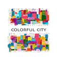 abstract cityscape background sketch for your vector image vector image