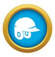 baseball helmet icon blue isolated vector image vector image