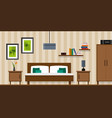 bedroom interior - flat style vector image vector image
