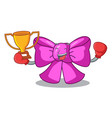 boxing winner gift bow tie isolated on cartoon vector image vector image