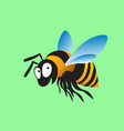 bumblebee grins big cheerful insect vector image vector image