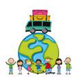 children icon design vector image