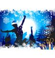Christmas party background vector image vector image