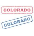 colorado textile stamps vector image vector image