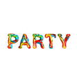 colorful 3d text party vector image