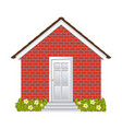 comfortable facade house with garden without vector image vector image