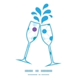 connected dots toasting wine glasses silhouettes vector image vector image