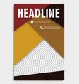 corporate brochure flyer design layout template vector image vector image