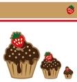 Cream choco cake invitation card vector image