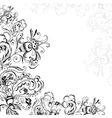 Decorative floral handmade vector image