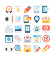 Digital Marketing Colored Icons 2 vector image vector image