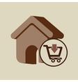 e-commerce store web page icon digital vector image