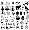 Easter greeting icon set