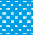 electronic board pattern seamless blue vector image vector image
