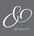 elegant and stylish custom ampersand calligraphy vector image vector image